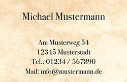 Visitenkarte - Marmor beige