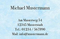 Visitenkarte - Marmor hellblau