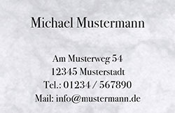 Visitenkarte - Marmor grau