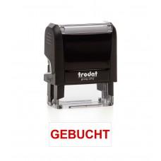 Stempel Printy 4912 mit Text GEBUCHT